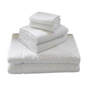 Oxford Imperiale 100% Ringspun Cotton Dobby Border & Dobby Edge White Washcloth - 25 Dz