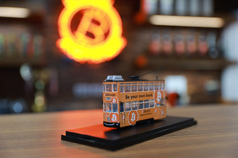 Model Bitcoin Tram (shipping resumes early December)