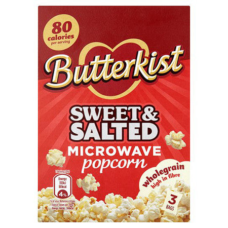 Butterkist Sweet & Salted Microwave Popcorn Pack of 3