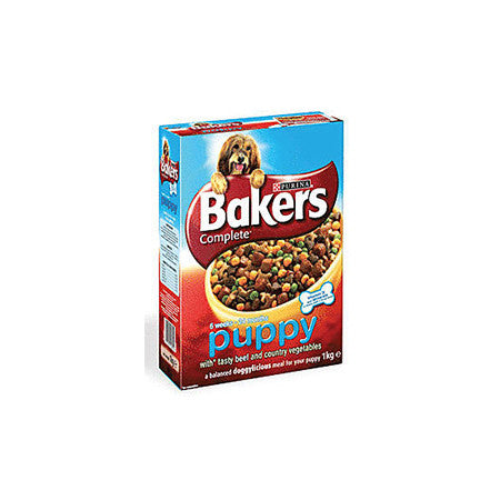 Bakers Meaty Meals Complete Dry Small Dog Food with Beef 1Kg