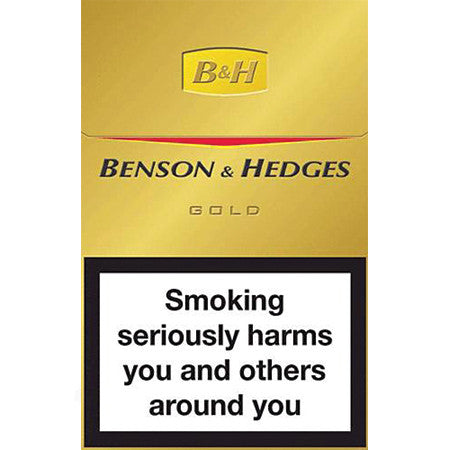 Benson Amp Hedges Gold King Size Cigarettes Pack Of 20
