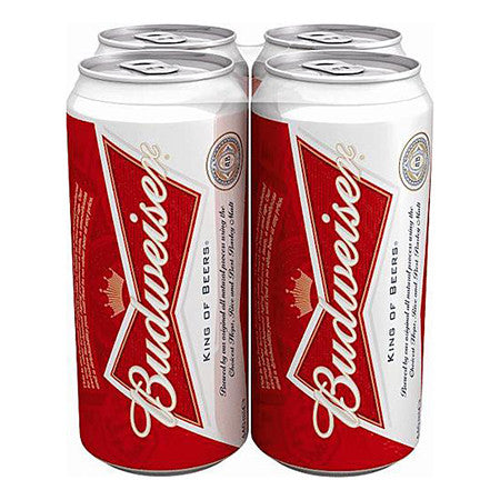 Budweiser Beer 4.8% 440ml Pack of 4