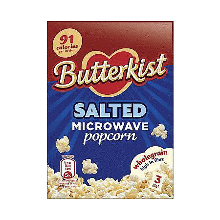 Butterkist Salted Microwave Popcorn Pack of 3