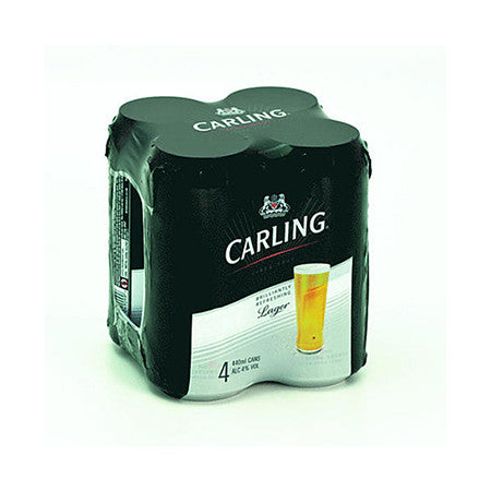 Carling Beer 4% 440ml Pack of 4