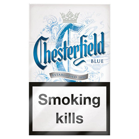 Chesterfield Blue King Size Cigarettes Pack Of 20 Dial A
