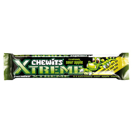 Chewits Extreme Sour Apple Pack of 6