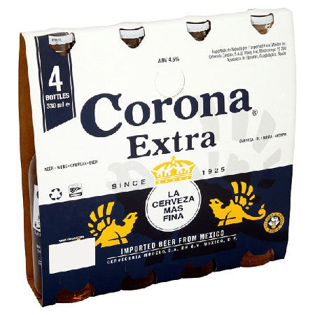 Corona Extra Beer 4.5% 330ml Pack of 4