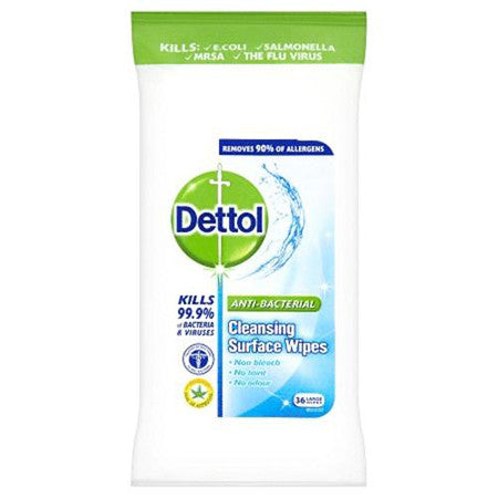 Dettol Anti-Bacterial Large Cleaning Surface Wipes Pack of 30