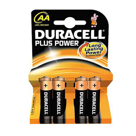 Duracell Plus Power AA Battery Pack of 4