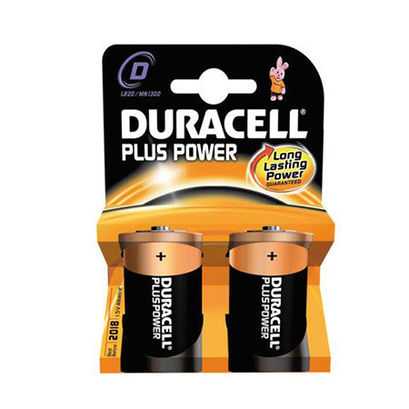 Duracell Plus Power D Battery Pack of 2