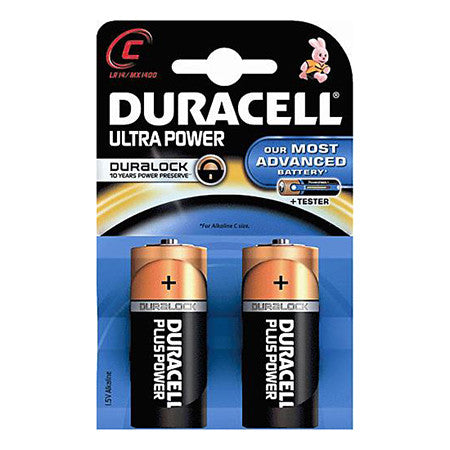 Duracell Ultra Power C Battery Pack of 2