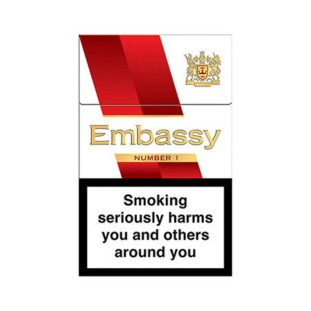 Embassy Number 1 King Size Cigarettes Pack of 20