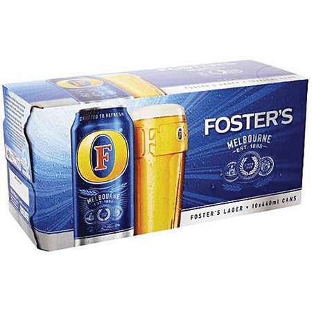 Fosters Beer 4.0% 440ml Pack of 10