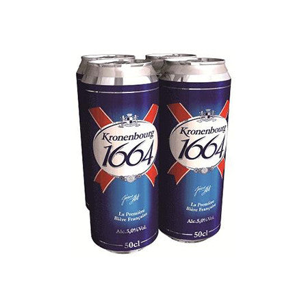 Kronenbourg Beer 5% 440ml Pack of 4