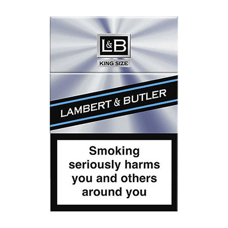 Lambert & Butler Silver King Size Cigarettes Pack of 20
