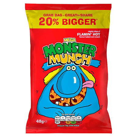 Monster Munch Flamin' Hot Crisps 40g