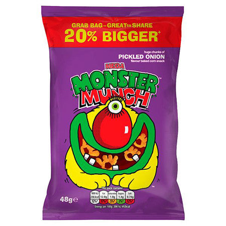 Monster Munch Pickled Onion Crisps 48g