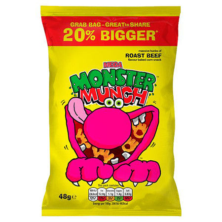 Monster Munch Roast Beef Crisps 48g Dial A Delivery