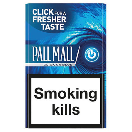 Pall Mall Click On Blue King Size Cigarettes Pack of 20