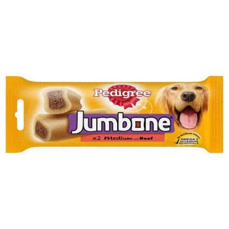 Pedigree Jumbone Medium With Beef Pack of 2