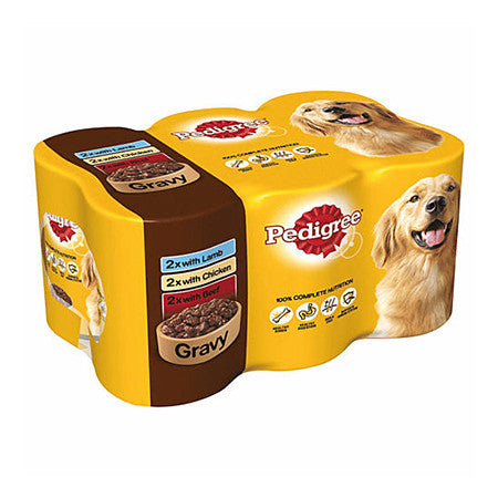 Pedigree Mixed Selection in Gravy Dog Tins Pack of 6