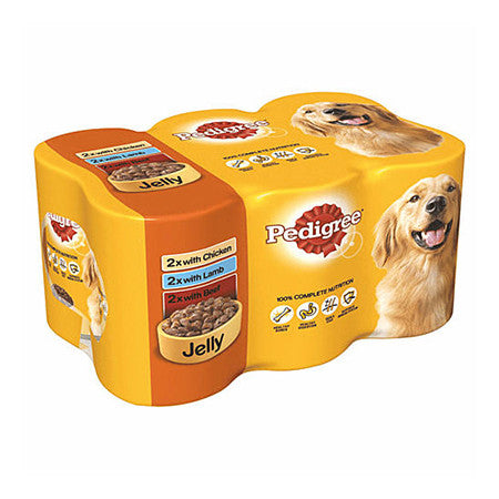 Pedigree Mixed Selection in Jelly Dog Tins Pack of 6