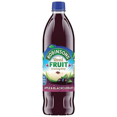 Robinsons Apple & Blackcurrant Squash No Added Sugar 1L