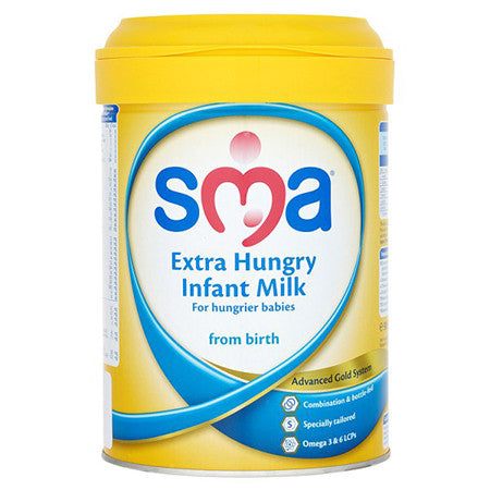 SMA Extra Hungry Infant Milk Powder From Birth 900g
