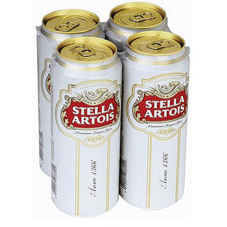 Stella Artois Beer 4.8% 440ml Pack of 4