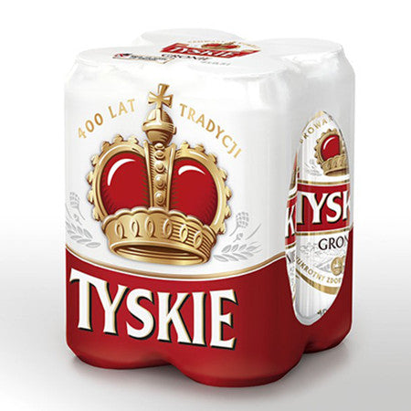 Tyskie Beer 5.5% 500ml Pack of 4
