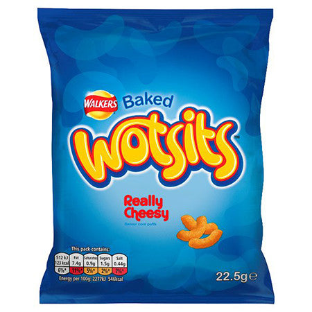Walkers Wotsits Really Cheesy Corn Puff Crisps 28.1g
