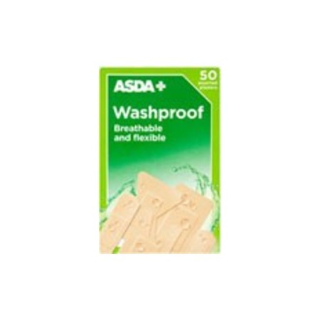 Washproof Assorted Plasters 50 Pack