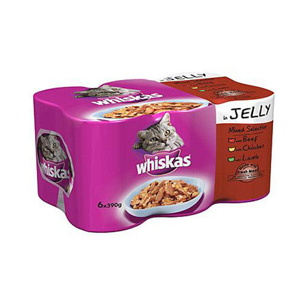 Whiskas Mixed Selection in Jelly Cat Tins Pack of 6