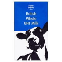 Happy Shopper British Whole UHT Milk 1L