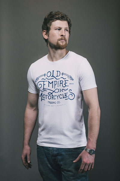 Old Empire Motorcycles Script Tee