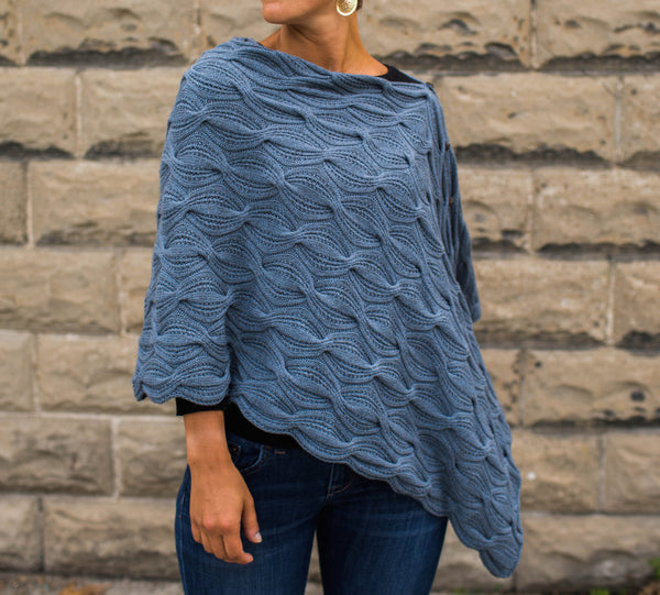 Sand Waves Poncho by Norah Gaughan