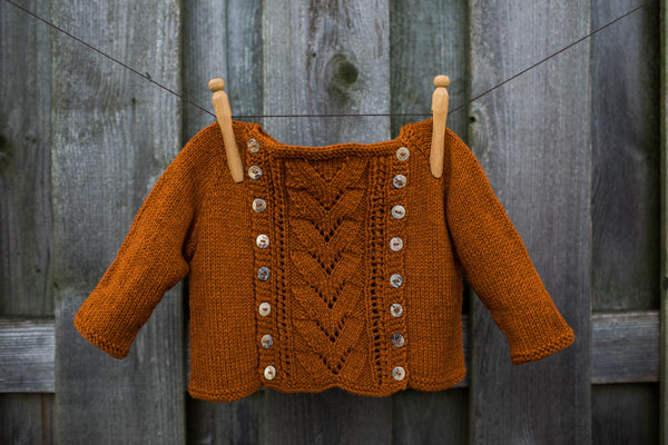 Button-Off Baby Sweater by Joanna Johnson