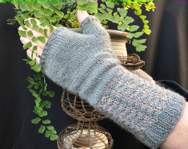 Sparrow Fingerless Mitts designed by Amy Swanson