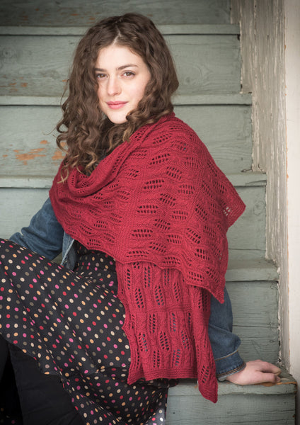 June Cashmere, shawl pattern, 100% cashmere, spring wear cashmere, Lace weight yarn, Gale Zucker