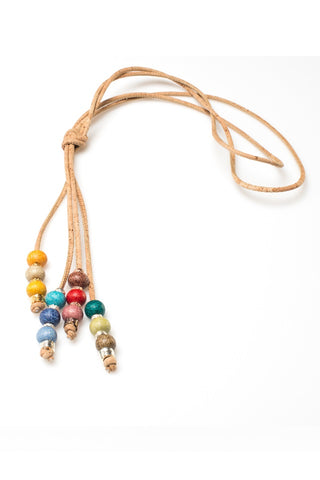 Long Necklace with a Mix of Beads