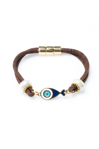 Bracelet with Blue Fish and Beads