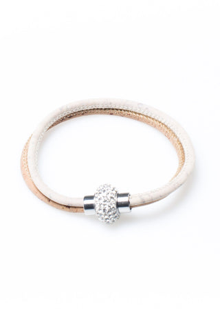 Bracelet with White Brilliant Clasp