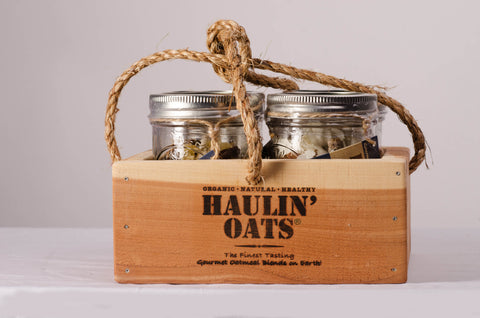 4 pack Oatmeal Gift Crate ½ Pint Jars
