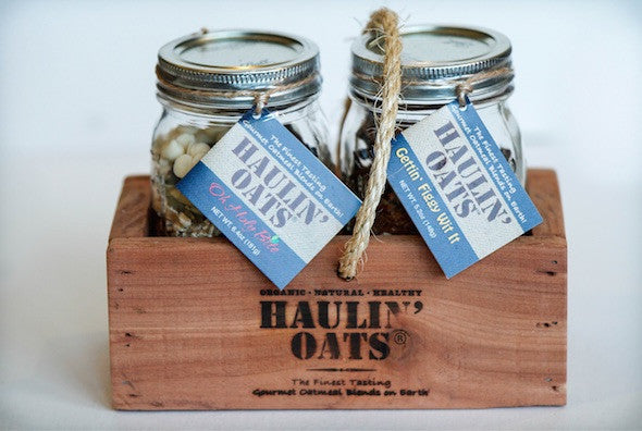 "2 pack ""Oh Holy Bite"" Gift Crate Pint Jars"
