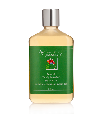 Natural body wash with Eucalyptus and Green tea - Rebecca's Paradise