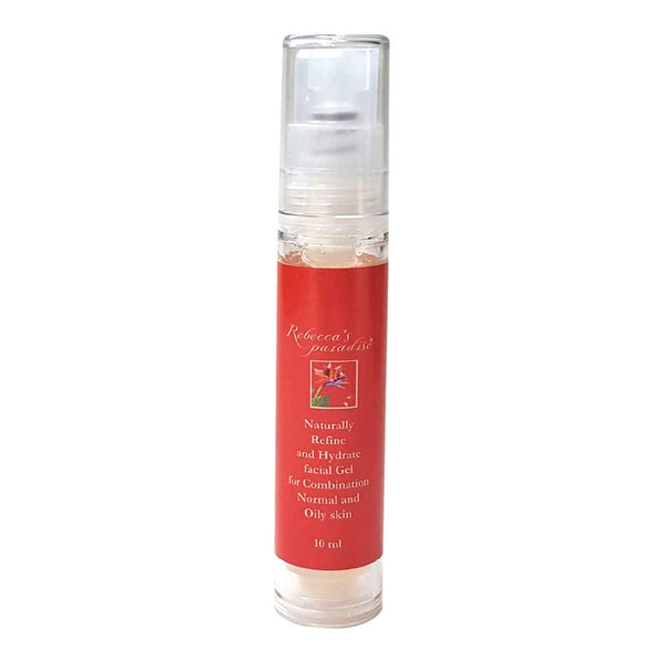 Naturally Refine and Hydrate facial Gel for Combination/Normal and Oily skin 10ml/0.34 fl oz. - Rebecca's Paradise