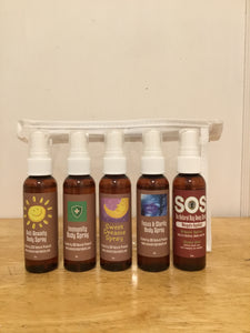 Aromatherapy Therapeutic Body Spray Collection Gift Set