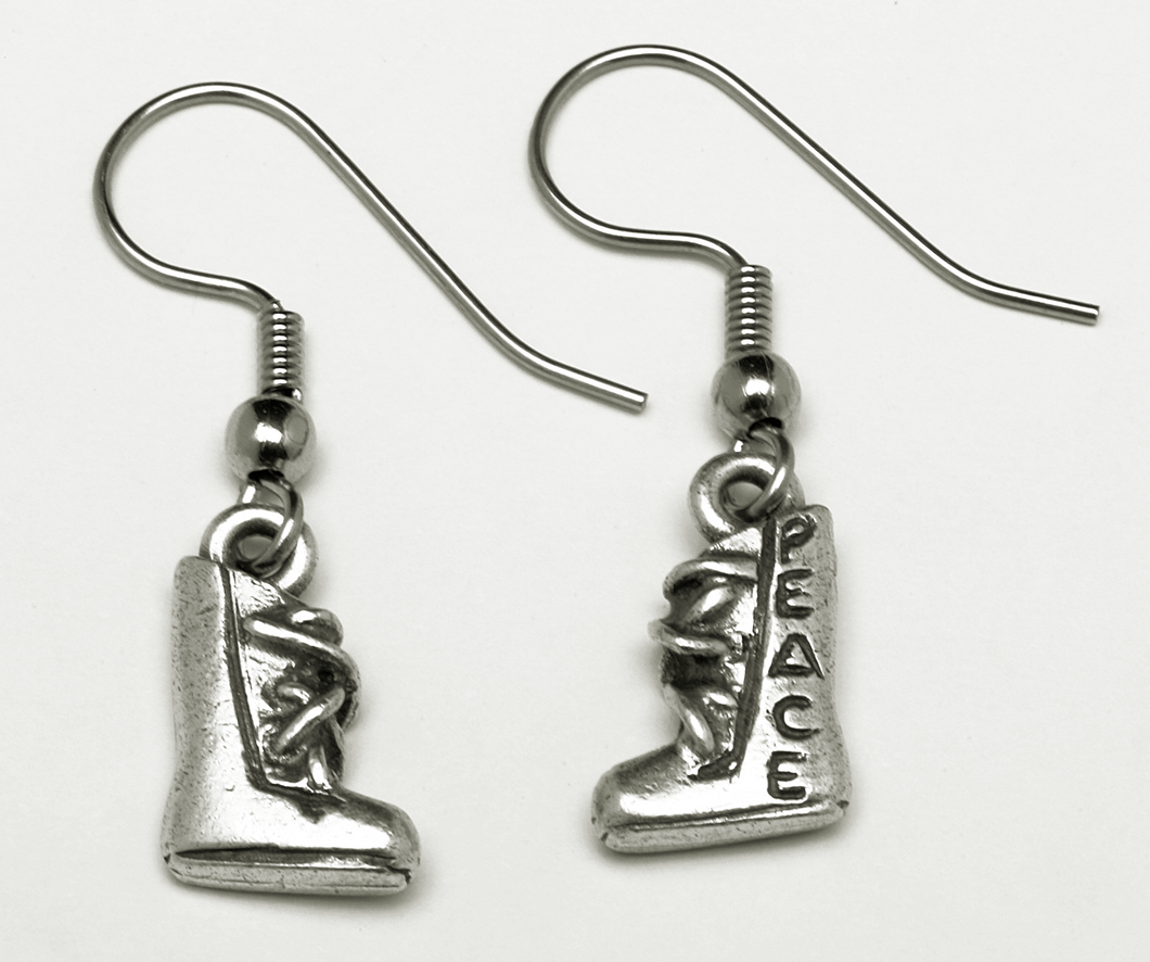 Armor of God Boot of Peace Earrings