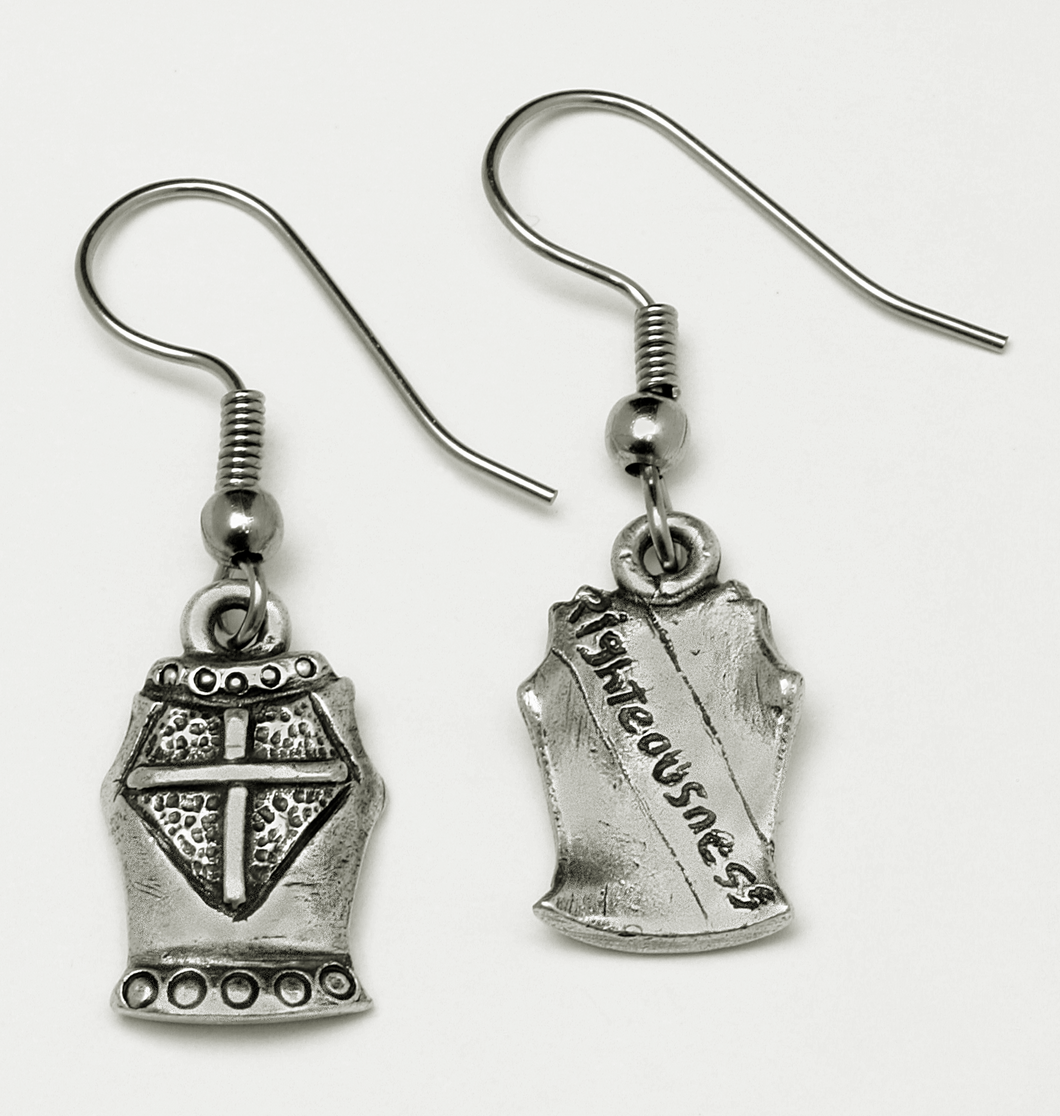 Armor of God Breastplate of Righteousness earrings