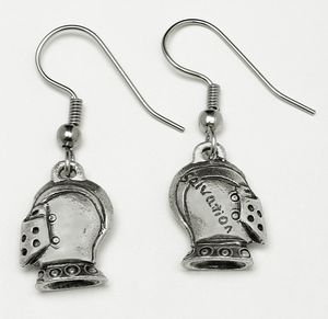 Armor of God Helmet of Salvation Earrings